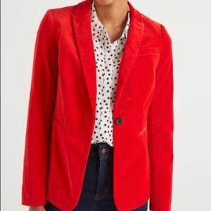 Beautiful Boden red velvet blazer.